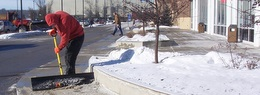 Shoveling snow for corporate customer