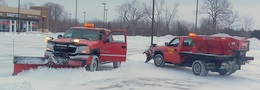 Multiple Snow Plow trucks
